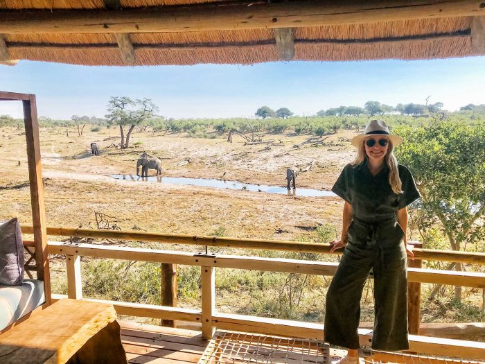 Arbiter client MW is the epitome of safari chic on honeymoon at Belmond Savute Elephant Lodge, Botswana