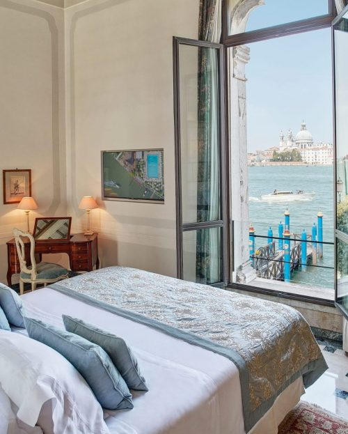 View from bed at Belmond Hotel Cipriani in Venice.