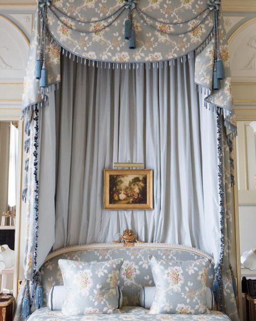 Hotel bed at Ritz Paris.